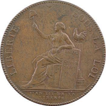 Constitution, deux sols de Monneron à la Liberté (ROUEN.), An III, 1791 Birmingham