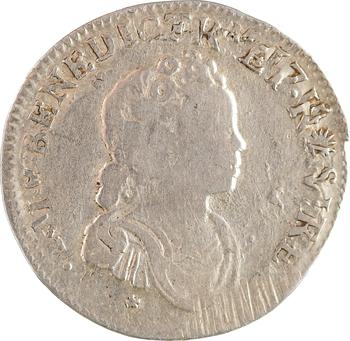 Louis XV, dixième d'écu dit Vertugadin, 1717 Amiens