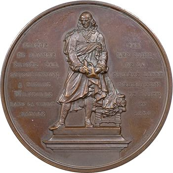Louis-Philippe Ier, érection de la statue de Corneille à Rouen, par Depaulis, 1834 Paris