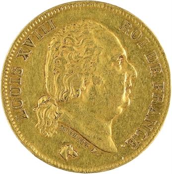Louis XVIII, 40 francs, 1816 Perpignan