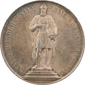 Belgique, Bruxelles, inauguration de la statue d'André Vésale, par Wiener, 1847
