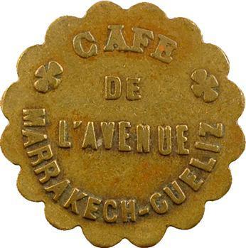 Maroc, Marrakech-Gueliz, 1 franc, Café de l'Avenue de Marrakech-Gueliz, s.d
