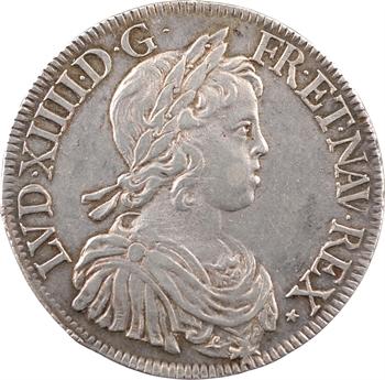 Louis XIV, écu à la mèche courte, 1644 Paris