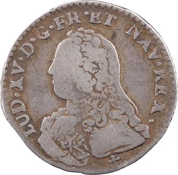 Louis XV, dixième d'écu aux rameaux d'olivier, 1727 Troyes