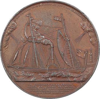 Louis-Philippe Ier, À la gloire des savants et des industriels, cliché uniface, par Caqué, 1843 Paris