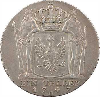 Allemagne, Brandebourg-Prusse (royaume de), Frédéric-Guillaume II, thaler, 1797 Berlin