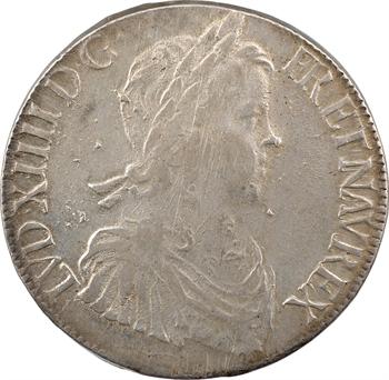 Louis XIV, écu à la mèche longue, 1653 Bayonne