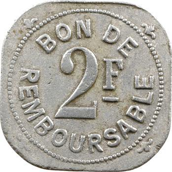 Comores, Société anonyme de la Grande Comore, 2 francs, s.d