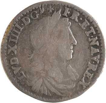 Louis XIV, douzième d'écu du Dauphiné au buste juvénile, 1660 Grenoble