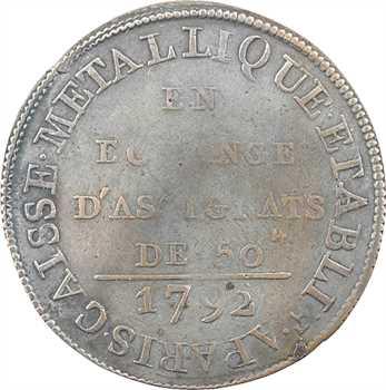 Constitution, Caisse métallique, 18 deniers, An 4, 1792 Paris