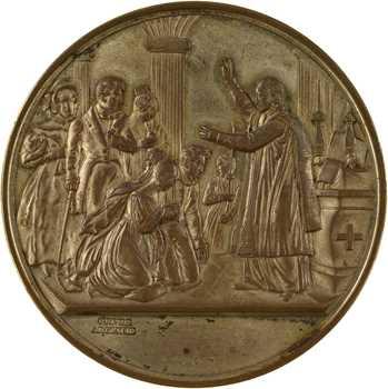 Second Empire, médaille de mariage par Caqué, s.d