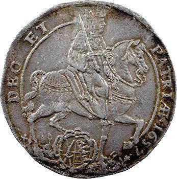 Allemagne, Saxe (duché de), Jean-Georges II, thaler, 1657 Dresde