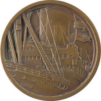 Vernon (J.) : Compagnie Générale Transatlantique, paquebot Paris, petit module, s.d. Paris