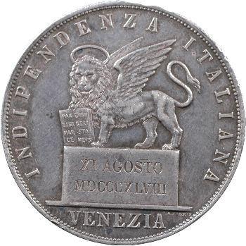 Venise (Gouvernement provisoire de), 5 lire, 1848 Venise