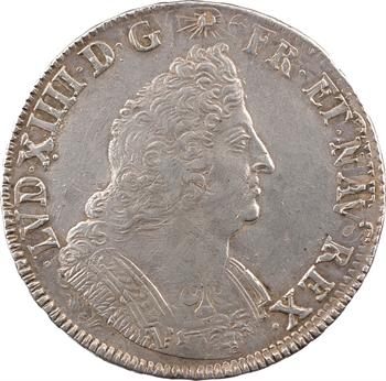 Louis XIV, écu aux palmes, 1693 Lille