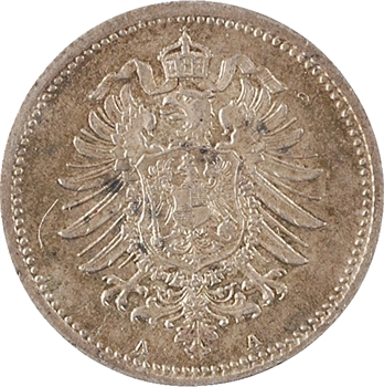 Allemagne (Empire d'), 20 pfennig, 1875 Berlin
