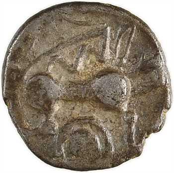 Andécaves, obole au cheval et M (?), proche des types du Pont de la Chaloire, c.80-50 av. J.-C