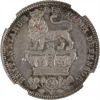 Royaume-Uni, Georges IV, 6 pence, 1826 Londres, NGC AU55