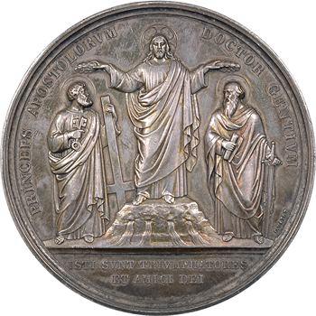 Vatican, Pie IX, XVIIIe centenaire du martyre de Saint Pierre et Saint Paul, par Voigt, 1867 Rome