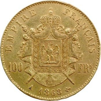 Second Empire, 100 francs tête laurée, 1868 Paris