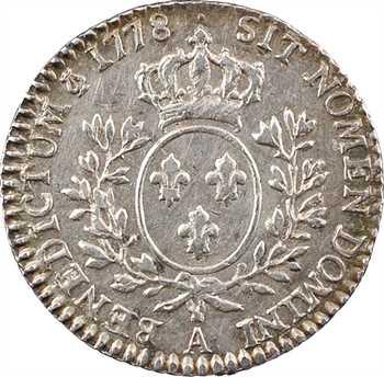 Louis XVI, dixième d'écu aux branches d'olivier, 1778, 2d semestre, Paris