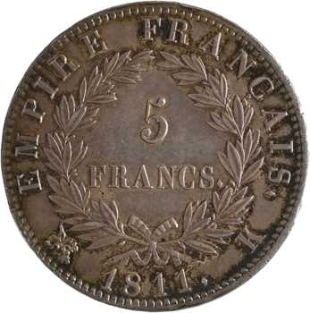Premier Empire, 5 francs Empire, 1811 Bordeaux