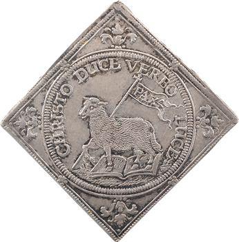 Allemagne, Nuremberg (ville de), Ferdinand II, klippe de 3 ducats, frappe en argent, 1648 Nuremberg