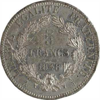 IIe République, concours de 5 francs par Caunois, 1848 Paris