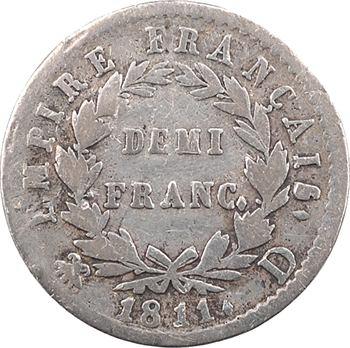 Premier Empire, demi-franc Empire, 1811 Lyon