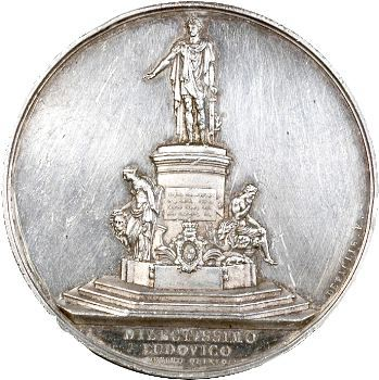 Louis XVIII, restauration de la statue de Louis XV à Reims, 1818