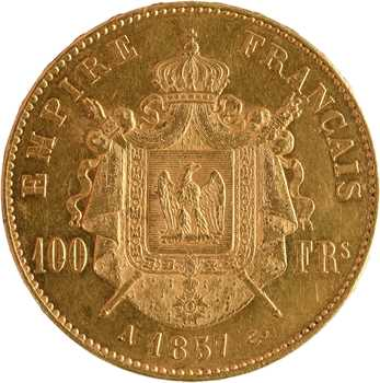 Second Empire, 100 francs tête nue, 1857 Paris