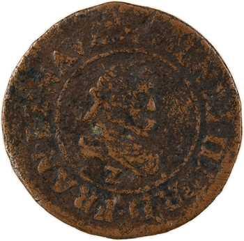 Henri IV, denier tournois du Dauphiné au différent de Grenoble, 1608 Lyon