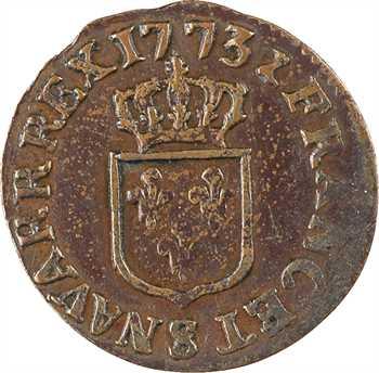 Louis XV, liard à la vieille tête, 1773 Reims