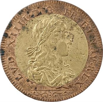 Louis XIV, jeton bimétallique, s.d. (c.1655) Paris
