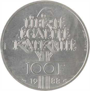 Ve République, essai de 100 francs Fraternité, 1988 Pessac