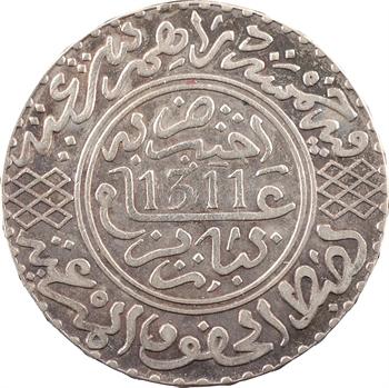 Maroc, Hassan Ier, 5 dirhams, AH 1311 (1893) Paris