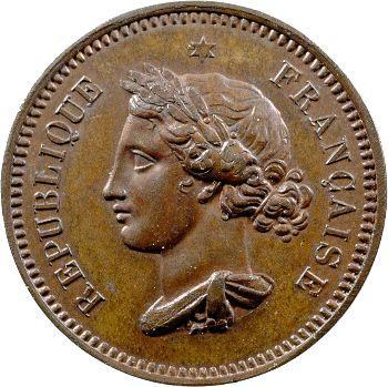 IIe République, concours de 10 centimes par Gayrard, 1848 Paris