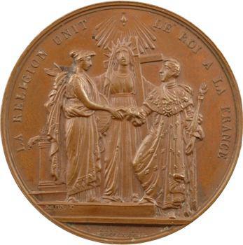 Charles X, médaille du sacre par Brun, 1825 Paris