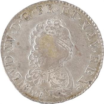 Louis XV, demi-écu dit Vertugadin, 1716 Caen
