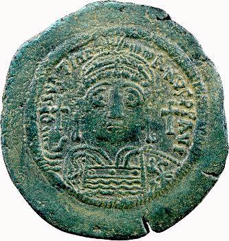 Justinien Ier, follis, Constantinople, 542-543