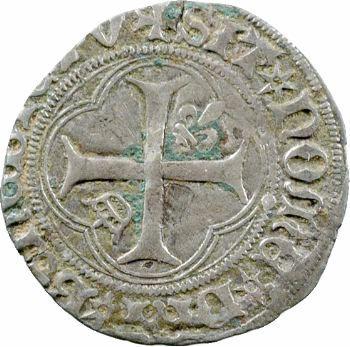 Louis XI, petit blanc à la couronne 2e émission, Tours