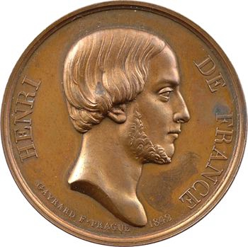 Henri V, médaille de Gayrard, Prague, 1842