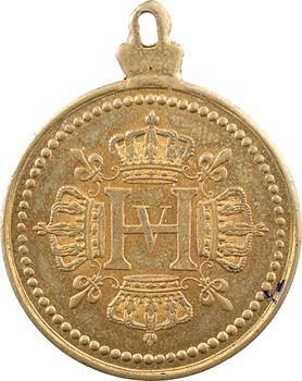 Henri V, médaillette, reine du ciel, sauvez la France