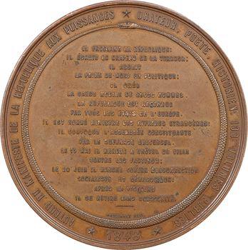 IIe République, Alphonse de Lamartine, par Bovy, 1848 Paris