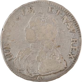 Louis XV, écu aux rameaux d'olivier, 1734/3 Montpellier