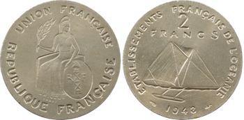 Polynésie (Océanie), série de 6 essais, 50 c., 1 et 2 francs, 1948 Paris