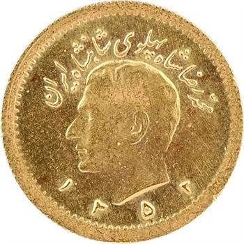 Iran, Reza Shah, 1/4 pahlavi, SH 1352 (1973)