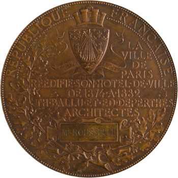 Chaplain (J.-C.) : réédification de l'Hôtel de Ville de Paris, 1882 Paris