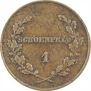 Île Maurice, Victoria, 1 schoenfeld (shilling), s.d