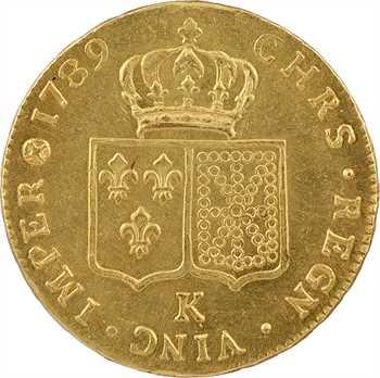 Louis XVI, double louis à la tête nue, 1789 Bordeaux